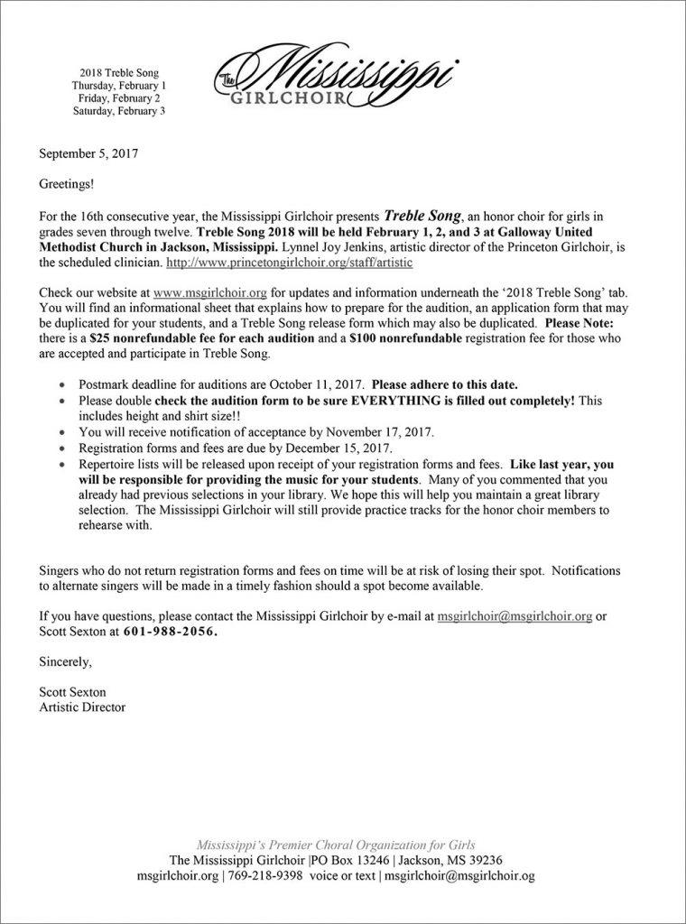 Registration Forms  Mississippi Girlchoir
